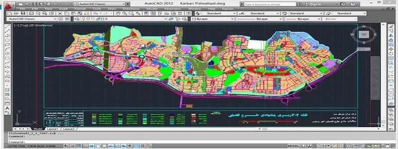 دانلود نقشه اتوکد کاربری اراضی طرح تفصیلی شهر پردیس